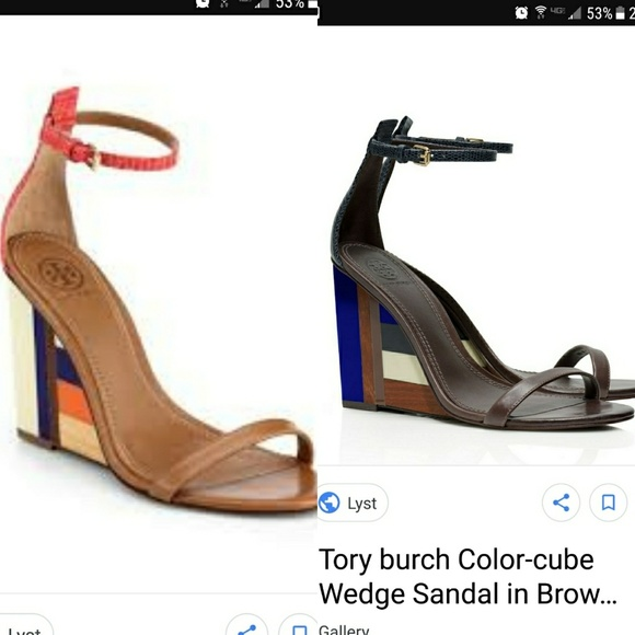 bfb0cc3c6bc ISO Tory Burch color block wedge ! M 5a5665f18af1c5c92101493f